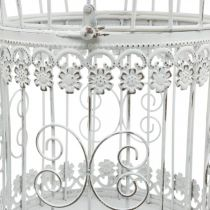 Kevätkoriste, lintuhäkki roikkumaan, metallinen koriste, vintage, hääkoriste 28,5cm
