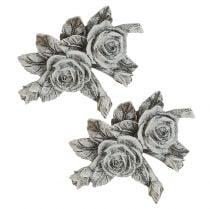 Ruusu hautakoristeluun polyresiini 10cm x 8cm 6kpl