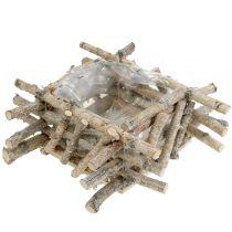 Koivun oksat valkoiseksi pestyt 28cm x 28cm K10cm