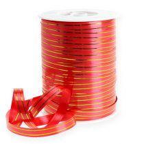 Lahjanauha 2 kultaista raitaa punaisella 10 mm 250m