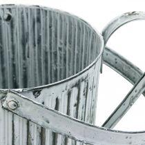 Metallinen istutuskannu, kastelukannu koristeluun, istutuskannu Ø17cm