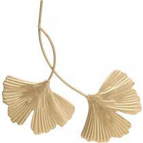 Ginkgo Leaf Metal Ginkgo Deco Golden Metal Deco 14cm 12kpl 12cm