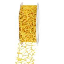 Ristikkoteippi keltainen 40mm 10m