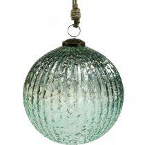 Lasipallo ripustaa sininen vintage joulukoriste lasia Ø15cm