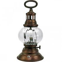 LED-myrskylyhty, metallilamppu, dekolamppu, vintage-look Ø12,5cm K30cm