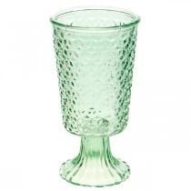 Lasinen lyhty, lasipikari jalalla, lasipurkki Ø10cm K18,5cm
