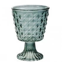 Lasinen pikari jalalla, lasinen lyhty Ø11cm K15,5cm