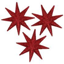 Glitter tähti punainen Ø5cm 20kpl