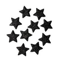 Glitter tähti musta 2,5 cm 100kpl