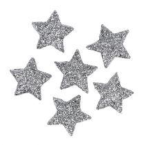 Kimalle tähti hopea Ø2,5cm 48kpl
