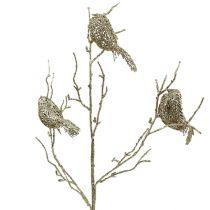 Kimalteleva oksa linnuilla 75cm kultaa