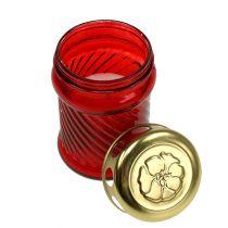Lasihautakynttilät punainen Ø6cm K11cm 12kpl