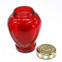 Hauta vaalea sydämenpunainen 11,5 cm x 8,5 cm K 17,5 cm 4kpl