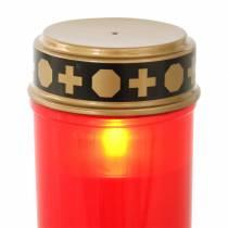 LED-hautavalo punainen, lämmin valkoinen ajastin paristokäyttöinen Ø6.8 H12.2cm