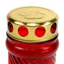 Hauta vaalean lasin punainen Ø6cm K10.5cm 1 kpl