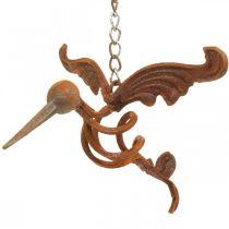 Kolibri Puutarha Koriste Ruosteinen metalli lintu ripustaa 24×19cm