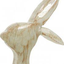 Koristeellinen hahmo, pupu, kevätkoriste, pääsiäinen, puinen koriste 30,5cm