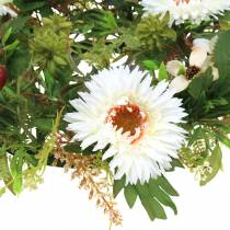 Syksyn seppele krysanteemi valkoinen Ø30cm