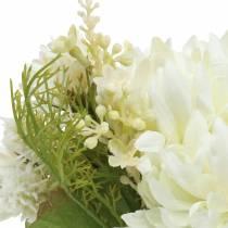 Krysanteemi-kimppusekoitus valkoinen 35cm