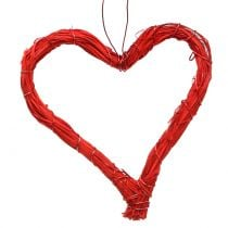 Bast sydämet ripustaa punainen 10cm 12kpl