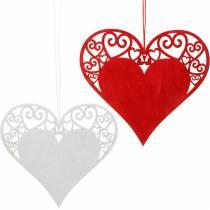 Sydän ripustaa, häät koristelu, korut riipus sydän, sydän koriste, ystävänpäivä 12kpl