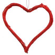 Hieno sydän ripustaa punaiseen 20cm 6kpl