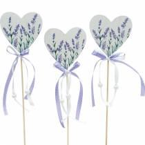 Laventelisydän, kesäkoriste, sydän kiinni laventeliin, Välimeren sydänkoriste 6kpl.