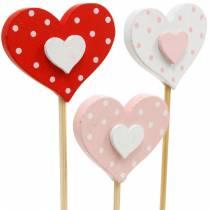 Koristetulppasydän, hääkoriste, kukkakoriste ystävänpäivänä, sydänkoriste 24kpl.