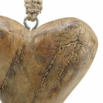 Ripustettava sydän Mango Luonnollinen, Kultainen 14×11cm 2kpl