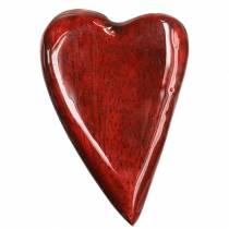 Mangopuu lasitetut sydämet punainen 6,2-6,6cm × 4,2-4,7cm 16kpl 16kpl