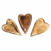 Mangopuiset sydämet lasitetaan luonnollisina 6,2–6,6 cm × 4,2–4,7 cm 16 kpl