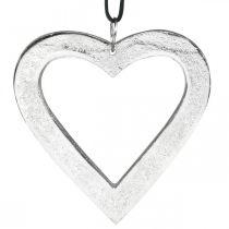 Sydän ripustettava, metallinen koriste, joulu, häät koriste hopea 11×11cm