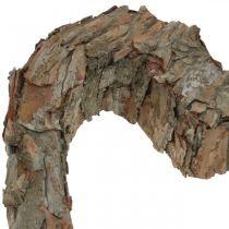 Deco Sydän Avoin männynkuori syksyn koriste Hautakoriste 30×24cm