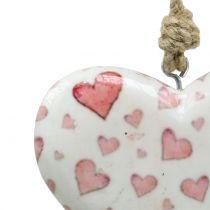 Koristeellinen ripustimen sydänkeramiikka 11cm x 10cm