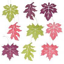 Puulehtisekoitus eri värejä ripustettavaksi 15cm 9kpl