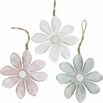 Puiset kukat ripustettavaksi, kesä, kukkia pastelliväreissä, kevätkoriste Ø16cm 3kpl.