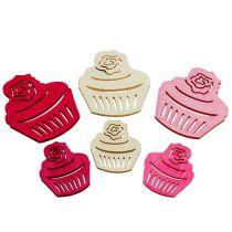 Puiset cupcakes-pöytäkoristeet pastelliväriset muffinit syntymäpäiväkoriste 24kpl