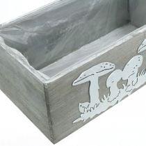 Puinen laatikko setti kärpässieni, syksyn koristelu, puutarhan koristelu, istutuslaatikot L40/30cm 2 kpl setti