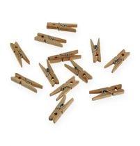 Koristeelliset puukiinnikkeet 3cm luonto 72kpl