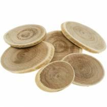 Puiset dekokiekot soikea luontokiekko Ø4-7cm puukoriste 400g