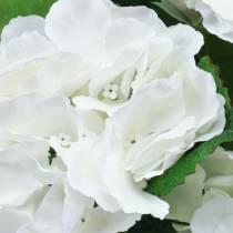 Hortensia kukkaruukussa Keinotekoinen valkoinen 35cm