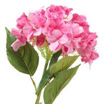 Hortensia suuri keinotekoinen vaaleanpunainen L110cm