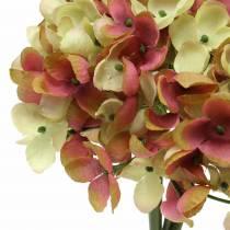 Hortensian kimppu tekokukat vaaleanpunainen, keltainen 28cm