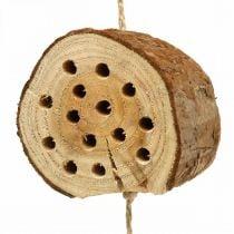 Hyönteishotelli puusta H65cm Pesimäapu ripustettavaksi ripustettavaksi