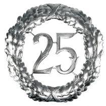 Vuosipäivä numero 25 hopeaa Ø40cm