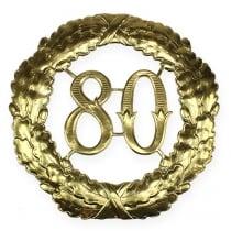 Vuosipäivän numero 80 kultaa Ø40cm