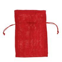 Säkkikangas säkit punainen 16cm x 24cm 10kpl
