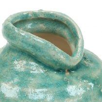Keraaminen maljakko antiikkisininen H9cm