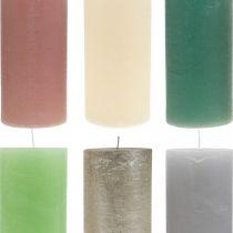 Pilarikynttilät värjätty eri väreillä 85×200mm 2kpl.