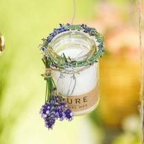 Kynttilä lasissa Deco kannella Puhdas luonto vaha kynttilä mehiläisvaha oliiviöljy